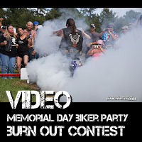 motorcycle burn out contest - VIDEO AND PHOTOS