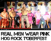 Hog Rock T'Oberfest 2014 Real Men Wear Pink breast cancer awareness fundraiser